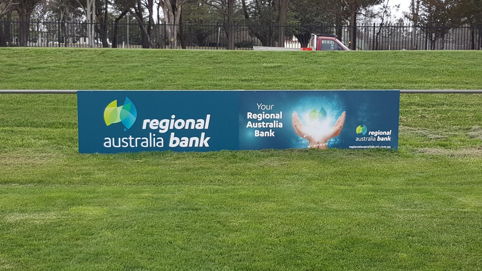 AOK Signs - Regonal Australia Bank